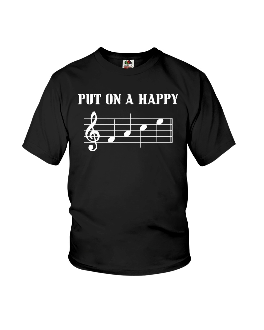 Put On A Happy FACE Funny Music Musician Youth T-Shirt