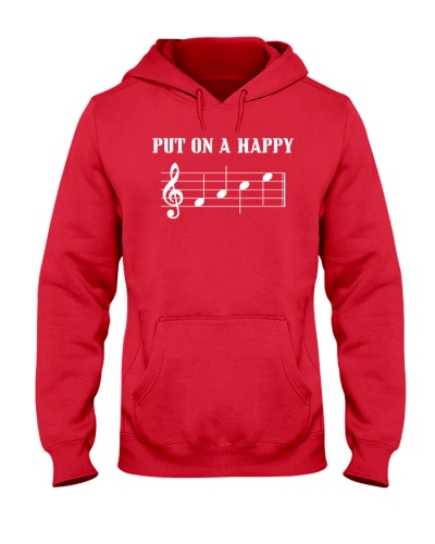 PUT ON A HAPPY FACE - Funny music tshirt
