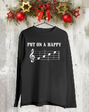 Put On A Happy FACE Funny Music Musician Long Sleeve Tee lifestyle-holiday-longsleeves-front-2