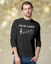 Put On A Happy FACE Funny Music Musician Long Sleeve Tee lifestyle-holiday-longsleeves-front-3