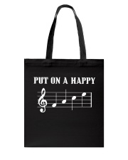 PUT ON A HAPPY FACE - Funny music tshirt Tote Bag thumbnail