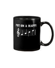 Put On A Happy FACE Funny Music Musician Mug front