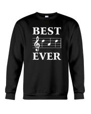 Best Dad Ever Treble Clef Music Musician Crewneck Sweatshirt thumbnail