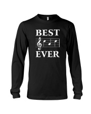 Best Dad Ever Treble Clef Music Musician Long Sleeve Tee thumbnail