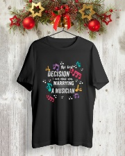 MARRYING COUPLE MARRIED MARRY MUSICIAN TSHIRT Classic T-Shirt lifestyle-holiday-crewneck-front-2