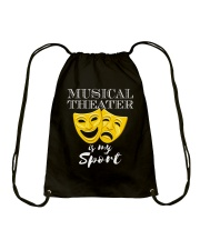 THEATRE THEATER MUSICALS MUSICAL TSHIRT Drawstring Bag tile