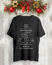 Piano Forte Pianissimo Funny Music Musician Classic T-Shirt lifestyle-holiday-crewneck-front-2