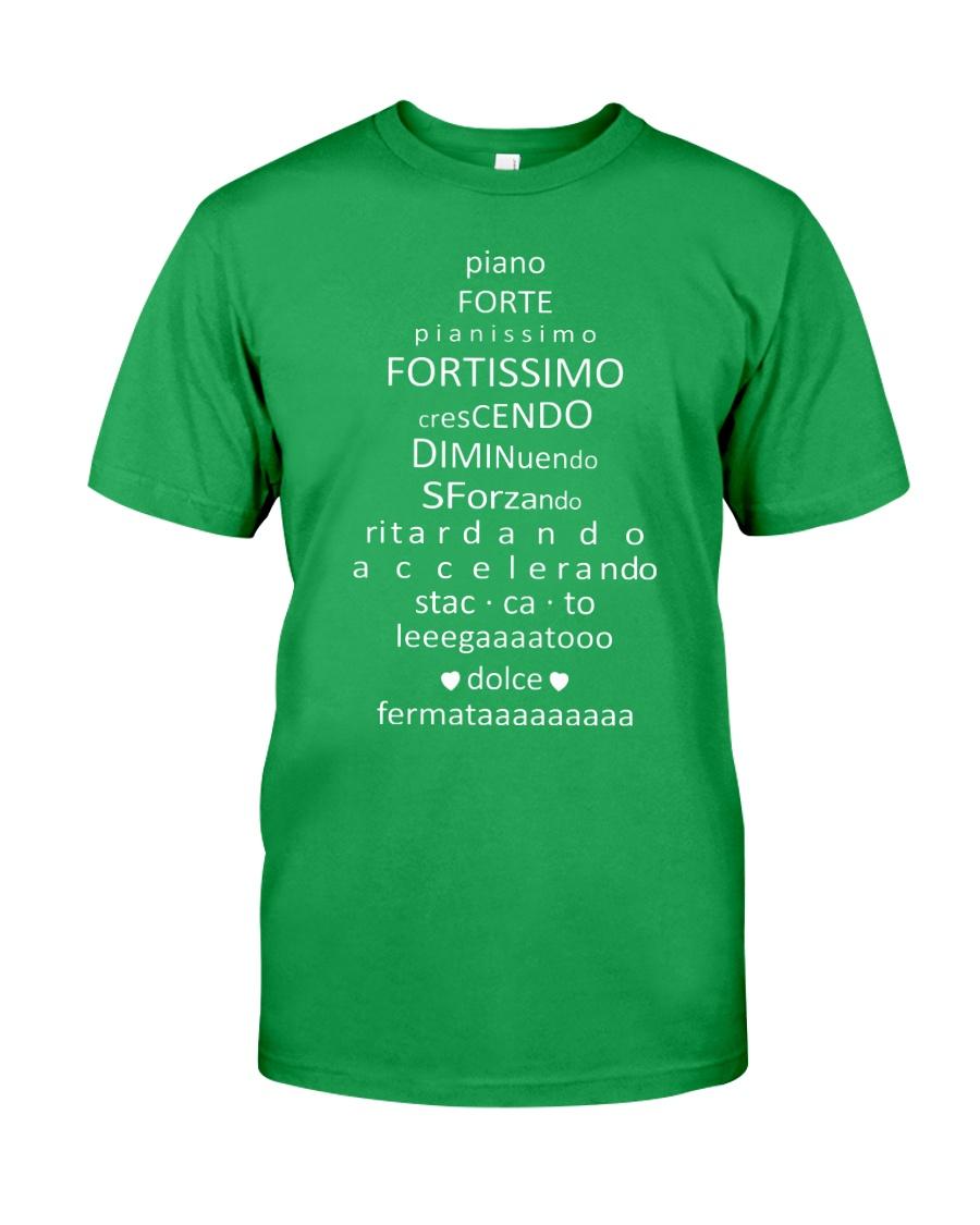 Piano Forte Pianissimo Funny Music Musician Classic T-Shirt