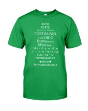 Piano Forte Pianissimo Funny Music Musician Classic T-Shirt front