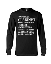 FUNNY DESIGN FOR CLARINET PLAYERS Long Sleeve Tee thumbnail