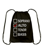 CHOIR SINGING SINGER VOCALIST - SING TSHIRT Drawstring Bag thumbnail