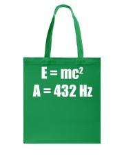 E MC 2 A 432 Hz Tote Bag thumbnail