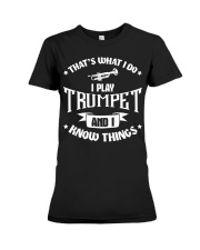 TRUMPET TSHIRT FOR TRUMPETER Premium Fit Ladies Tee thumbnail