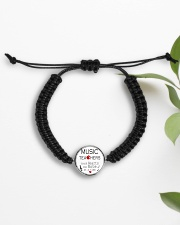 Jewelry for music lovers Cord Circle Bracelet aos-bracelet-cord-front-lifestyle-7