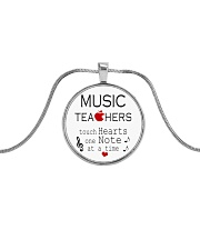 Jewelry for music lovers Metallic Circle Necklace thumbnail