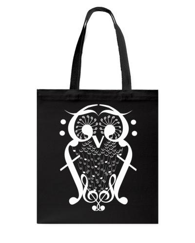 TSHIRT FOR MUSICIAN MUSIC TEACHER - OWL BIRD NOTE