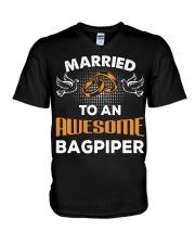 FUNNY BAGPIPES TSHIRT FOR PIPER PIPE BAND V-Neck T-Shirt thumbnail