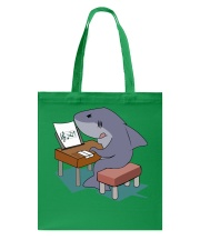 Funny Shark Music Note Tshirt Tote Bag thumbnail