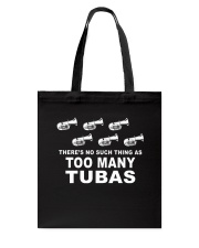 TUBA TSHIRT FOR TUBIST TUBAIST Tote Bag thumbnail