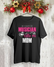 MOTHER'S DAY - MOM TSHIRT FOR MUSIC MUSICIAN Classic T-Shirt lifestyle-holiday-crewneck-front-2