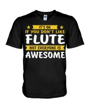FUNNY DESIGN FOR FLUTE PLAYERS V-Neck T-Shirt thumbnail