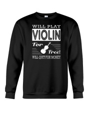 FUNNY  DESIGN FOR VIOLIN PLAYERS Crewneck Sweatshirt thumbnail