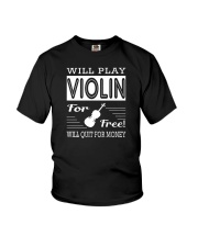 FUNNY  DESIGN FOR VIOLIN PLAYERS Youth T-Shirt thumbnail