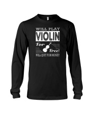 FUNNY  DESIGN FOR VIOLIN PLAYERS Long Sleeve Tee thumbnail