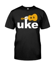 FUNNY DESIGN FOR UKULELE LOVERS Classic T-Shirt front