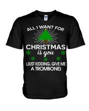 TROMBONE TSHIRT FOR TROMBONIST V-Neck T-Shirt thumbnail