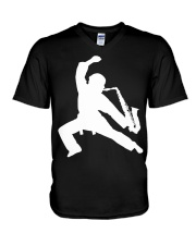 FUNNY SAX TSHIRT FOR SAXOPHONE PLAYER V-Neck T-Shirt tile