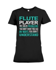 AWESOME DESIGN FOR FLUTE PLAYERS Premium Fit Ladies Tee thumbnail