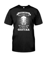 ELECTRIC ACOUSTIC GUITAR TSHIRT FOR GUITARIST Classic T-Shirt tile