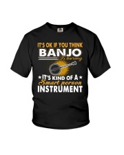 FUNNY DESIGN FOR BANJO PLAYERS Youth T-Shirt thumbnail