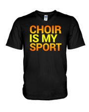 CHOIR SINGING SINGER VOCALIST - SING TSHIRT V-Neck T-Shirt thumbnail