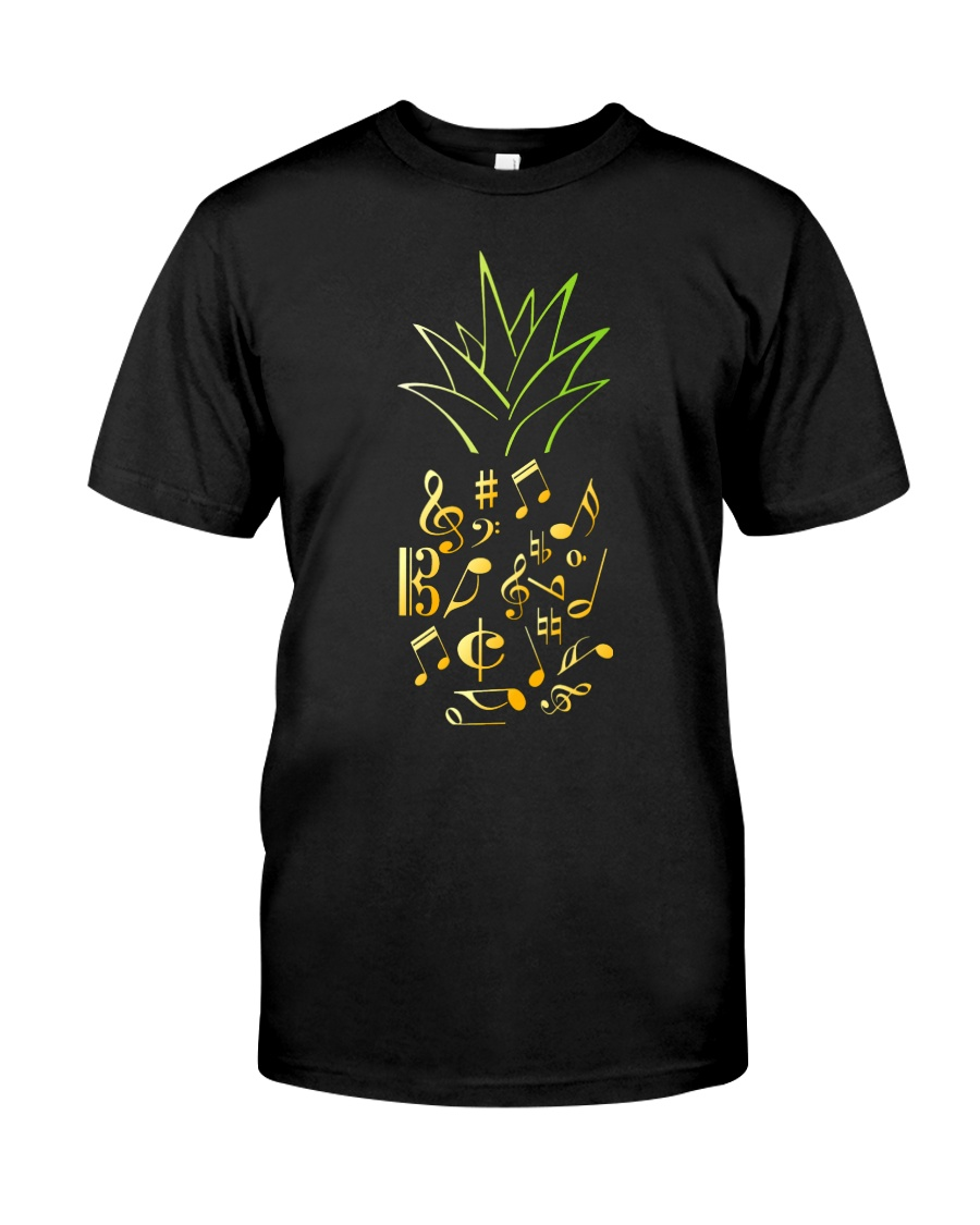 Pineapple Music Notes Musician Classic T-Shirt
