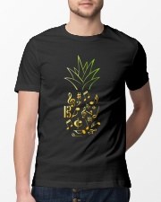 Pineapple Music Notes Musician Classic T-Shirt lifestyle-mens-crewneck-front-13