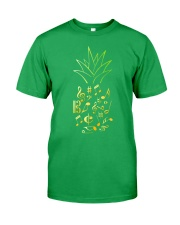 Pineapple Music Notes Musician Classic T-Shirt front