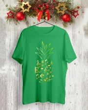 Pineapple Music Notes Musician Classic T-Shirt lifestyle-holiday-crewneck-front-2