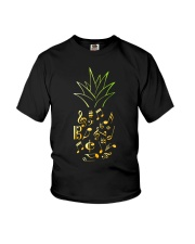 Pineapple Music Notes Musician Youth T-Shirt thumbnail