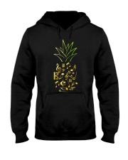 Pineapple Music Notes Musician Hooded Sweatshirt thumbnail