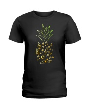 Pineapple Music Notes Musician Ladies T-Shirt thumbnail