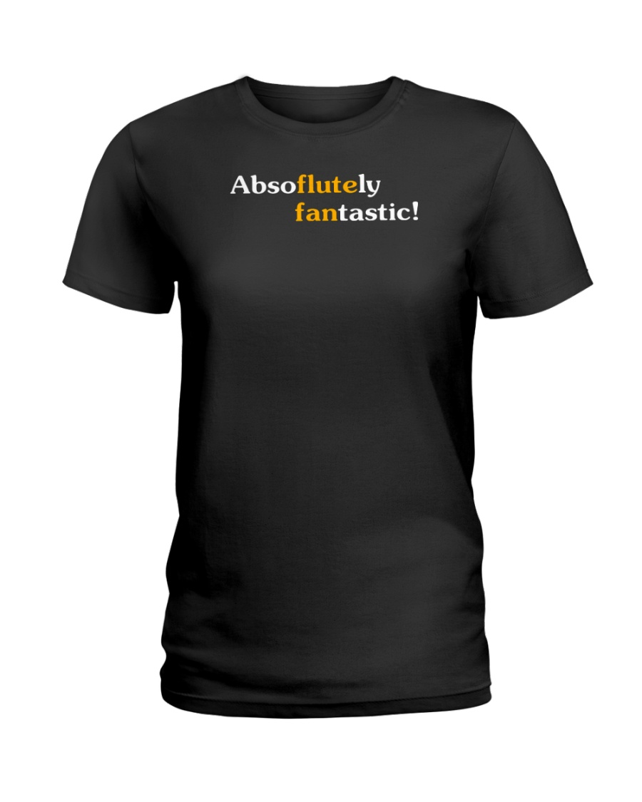 FUNNY DESIGN FOR FLUTE PLAYERS Ladies T-Shirt