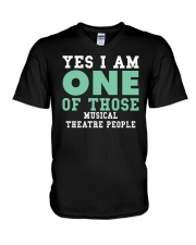 THEATRE THEATER MUSICALS MUSICAL TSHIRT V-Neck T-Shirt thumbnail