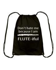 FUNNY TSHIRT FOR FLUTE PLAYERS  Drawstring Bag thumbnail