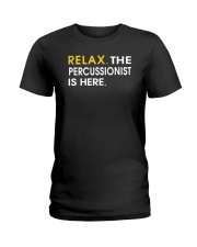 FUNNY DESIGN FOR PERCUSSION PLAYERS Ladies T-Shirt thumbnail