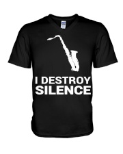 FUNNY SAX TSHIRT FOR SAXOPHONE PLAYER V-Neck T-Shirt thumbnail