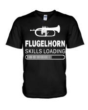 FUNNY DESIGN FOR FLUGELHORN PLAYERS V-Neck T-Shirt thumbnail