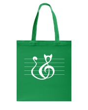 Cat Treble Clef Music Notes Musician Cute Tote Bag thumbnail