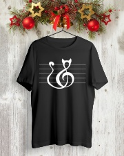 Cat Treble Clef Music Notes Musician Cute Classic T-Shirt lifestyle-holiday-crewneck-front-2